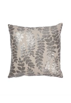 NEW Sequinned Leaf Cushion - Decorative Home - Indoor Living