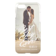Wedding Photo Best Day Ever for Newlyweds Case - married gifts wedding anniversary marriage party diy cyo