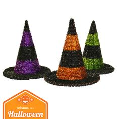 Our funky witch hats have a pinch of glitter, a dash of shine and a sprinkle of hocus pocus.