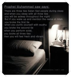 Remember this to drive satan away during Fajr Prayer. Sponsor $10 to help someone who can't afford to learn Quran Click on FundRaising at http://www.ummaland.com/s/hpnd2z