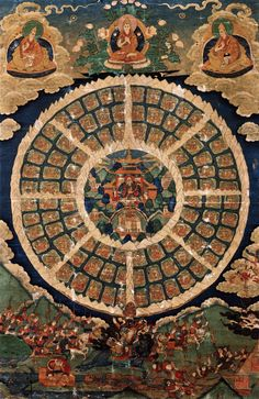 "Shambhala Mandala. The Magic Kingdom. 1700s. Shambhala or ""bde 'byung"" in Tibetan, means ""The source of happiness"". The Kingdom of Shambhala takes a central place in the Kalachakra teachings. Not only did the historical Shakyamuni Buddha teach the Kalachakra tantra at the request of King Suchandra of Shambhala,"
