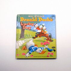 Vintage 1951 Whitman Tell A Tale Book, Donald Duck's Lucky Day