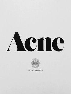 #acnestudios #typography #typeface