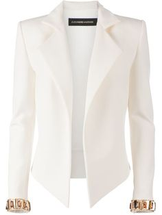 Shop Alexandre Vauthier embellished cuff blazer in L'Eclaireur from the world's best independent boutiques at farfetch.com. Over 1000 designers from 60 boutiques in one website.