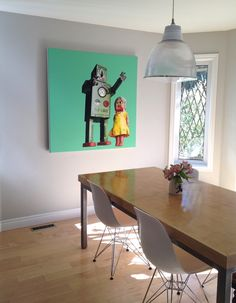 Heather Millar's work in artist Sarah Martin's home