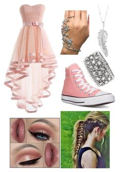 """Pink Prom"" by riley-motes on Polyvore featuring Castello, Converse, Penny Preville, Mark Broumand, women's clothing, women's fashion, women, female, woman and misses"