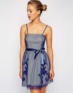 ASOS Mesh Applique Prom Dress