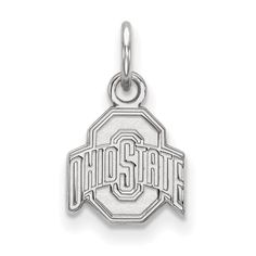Plaqué or Argent STERLING Michigan Université de Pendentif Football par LogoArt