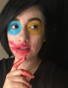 Primary Color face paint / Avant garde by Genesis