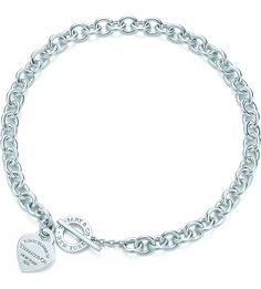 TIFFANY & CO - Return to Tiffany™ heart tag toggle necklace in sterling silver | Selfridges.com