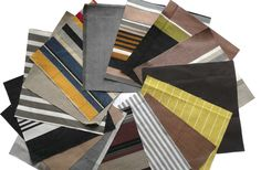 Brown Patchwork Fabric Squares | Quilting Fabric Squares Brown Stripes