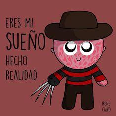 Ilustracion inspirada en Elm street de Irene Calvo