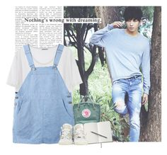 """""""Wonwoo: nothing´s wrong with dreaming"""" by yxing ❤ liked on Polyvore featuring Fjällräven, Converse, kpop, seventeen and wonwoo"""