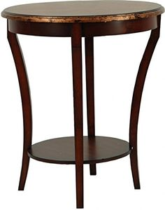 Beautifully crafted out of solid brown birch wood the Safavieh American Home Collection Dereham Dark Brown Round End Table adds a classic accent to any space. This lovely piece features rounded corne...