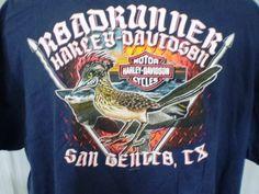 Harley-Davidson Blue 3XL T-Shirt San Benito TX Cotton