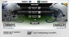Users outside the USA can watch NFL games online, streaming in HD quality. Watch both live and post game replay. Cowboys Vs, Dallas Cowboys, Live Nfl, Game Pass, San Diego Chargers, Online Games, Watch, Clock, Dallas Cowboys Football