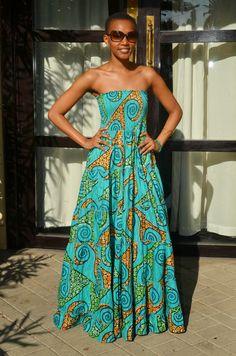 Maxi dress designed by Kiki Zimba