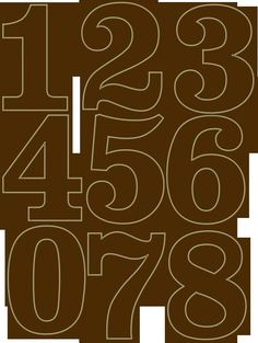 Nice, bold, plump numbers that can be easily read from a distance. Cake Templates, Number Templates, Felt Crafts, Paper Crafts, Diy Papier, Diy Décoration, Marianne Design, Alphabet And Numbers, Stained Glass Patterns