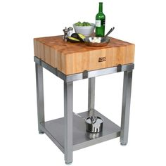 John Boos Cucina Laforza End Grain Maple Butcher Block Top Butcher Block Kitchen Cart, Boos Butcher Block, Maple Butcher Block, Butcher Block Island, Butcher Blocks, Kitchen Carts, Kitchen Utensils, Kitchen Ideas, Kitchen Design