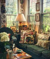 Cozy corner to relax - Wohnzimmer Deko Ideen - French Home Decor, Vintage Home Decor, Cottages Anglais, English Cottage Style, English Cottage Interiors, English Cottage Decorating, English Country Style, English Country Cottages, French Country