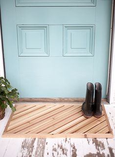 DIY Wood Doormat @th
