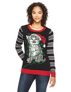 d67935f6196 Looking for Ugly Christmas Sweater Company Women s Cat Wrapped Up Lights    Check out our picks for the Ugly Christmas Sweater Company Women s Cat  Wrapped Up ...