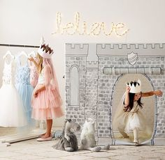 make her fairy-tale dreams come with a petite castle playhouse and fanciful tulle dresses. #rhbabyandchild