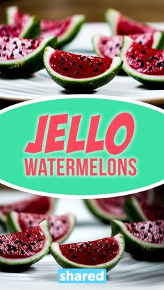 Jello Watermelon Slices