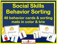 This product contains 48 different pictures of appropriate and inappropriate behaviors for students to sort. These materials can be used as a group social skills lesson, a group game, or as an individual sorting activity.  Sorting mats are also included.