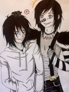 Jeff the Killer and Laughing Jack by ADeadSmile.deviantart.com on @DeviantArt