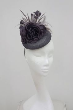 Grey, Fascinator, Hatinator, Hat, Millinery, Headpiece, for Weddings, Mother of the Bride, Race Meetings, Royal Ascot, Ladies Day by JayneAlisonMillinery on Etsy