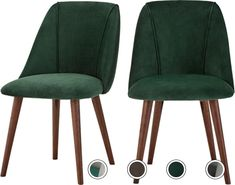 Set of 2 Lule Dining Chairs, Pine Green Velvet from Made.com. Dark Wood/Green. Express delivery. The perfect seat for dining, our Lule chairs offer ..