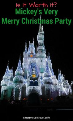 Are you struggling to decide if Mickey& Very Merry Christmas Party is worth the expense? Find out what to expect and when the extra cost makes sense. Disney World Guide, Disney World Secrets, Disney World Tips And Tricks, Disney World Trip, Disney Cruise Tips, Disney Vacations, Disney Travel, Christmas Travel, Disney Christmas