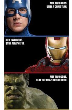 Avengeists, avengers, gods