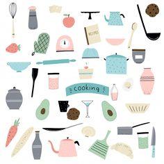 Elementos de coocking Vetor Premium Food Logo Design, Vintage Logo Design, Logo Food, Brand Identity Design, Branding Design, Corporate Branding, Bakery Logo, Logo Restaurant, Menu Template