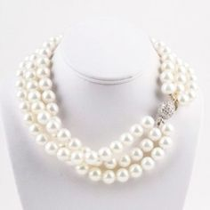 Classic KEP Designs pearl necklace-can never go wrong with pearls!  #oklsummer