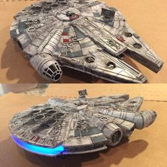Decided to do a little dry brushing on the flat molded plastic Revell model kit Millennium Falcon from The Force Awakens. Adding wear and tear is easier than I thought. Looks much better! #millenniumfalcon #hansolo #theforceawakens #markbrooks #StarWars by markbrooksart