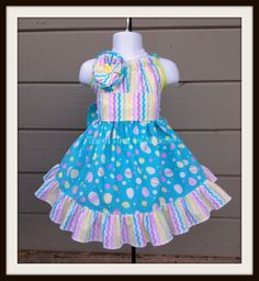Boudatious Easter Dress Size 9mos-8 years