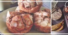 Fit Food Guide - Gezonde Recepten : Ontbijt Muffins met Eiwit, Havermout & Banaan