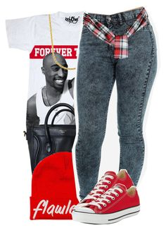 """""""Untitled #1169"""" by ayline-somindless4rayray ❤ liked on Polyvore featuring Converse"""