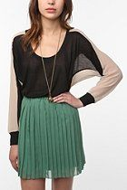Lucca Couture Chiffon Back Colorblock Tee