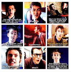 More reasons why ten is my favorite!!!:) http://www.pinterest.com/cwsf2010/doctor-who (Love the fact that he used a spell, since he was, in fact, a character in HP4)