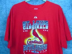2006-St-Louis-Cards-World-Series-Shirt-XL-Cardinals-Names-on-Back-Red-46-Chest
