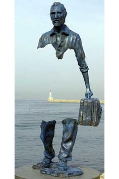 "A sculpture of Vincent van Gogh. Implied line to the extreme.French Sculptor Bruno Catalano ) ""Le Grand Van Gogh"" on the waterfront in Marseille, France. Modern Art, Contemporary Art, Contemporary Sculpture, Street Art, French Sculptor, Art Sculpture, Bronze Sculpture, Freedom Sculpture, Metal Sculptures"