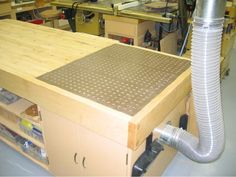 Workbench with Downdraft Sanding Table
