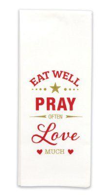 Pray Often Flour Sack ToweL with Scripture