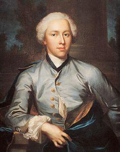 Bildnis Vinzenz Bernhard Tscharner bt Jakob Emanuel Handmann. 1750.