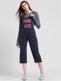 Jumpsuits Elegant Women's Jumpsuit  *Fabric* Cotton Jersey  *Sleeves* Sleeves Are Not Included  *Size* S - 36 in , M - 38 in , L - 40 in  *Length* Up To 44 in  *Type* Stitched  *Description* It Has 1 Piece Of Women's Jumpsuit  *Work* Printed  *Sizes Available* XXS, XS, S, M, L, XL, XXL, XXXL, 4XL, 5XL, 6XL, 7XL, 8XL, 9XL, 10XL, Free Size *    Catalog Name: Adeline Elegant Womens Jumpsuits CatalogID_226201 C79-SC1030 Code: 293-1728293-