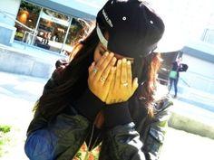 Shy Girl in a SnapBack.