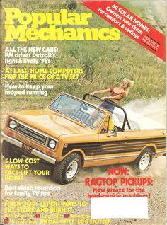 1977 International Harvester Scout Traveler Cover Ad for Popular Mechanics